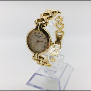 Raymond Weil ladies watch gold tone link bracelet